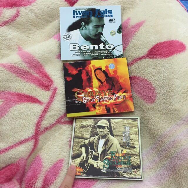 CD Album (Kolektor) Franky Sahilatua, Chrisye, Iwan Fals
