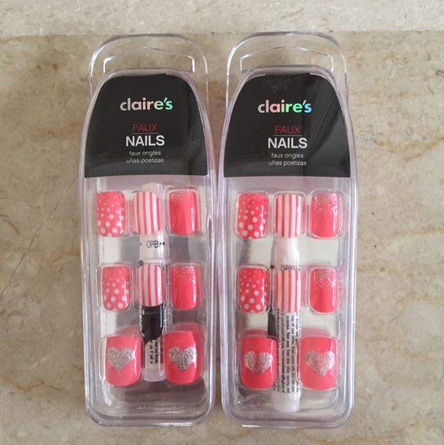 Claires Faux Nails Health Beauty On Carousell