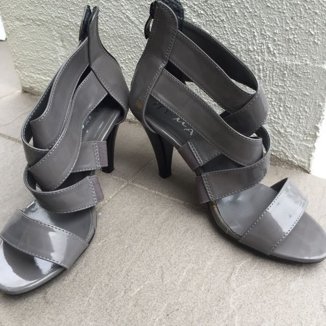 Grey Casual High Heels Size 37 7
