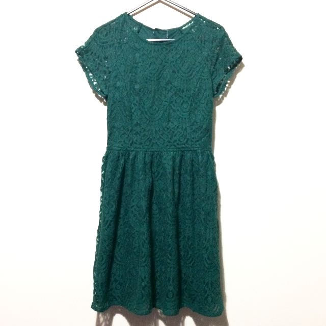 H&M Green Laced Dress