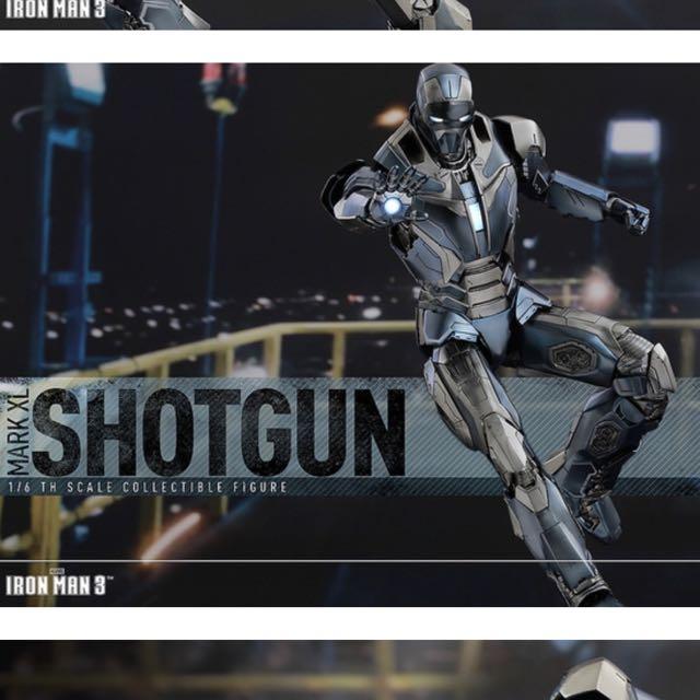 [現貨]Hot Toys – MMS309 – 《鋼鐵人3》1/6 比例 鋼鐵人馬克40:獵槍 (Shotgun)