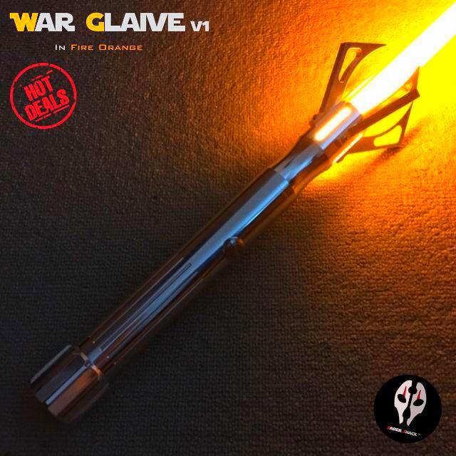 unavailable war glaive v1 dueling lightsaber w obsidian sound