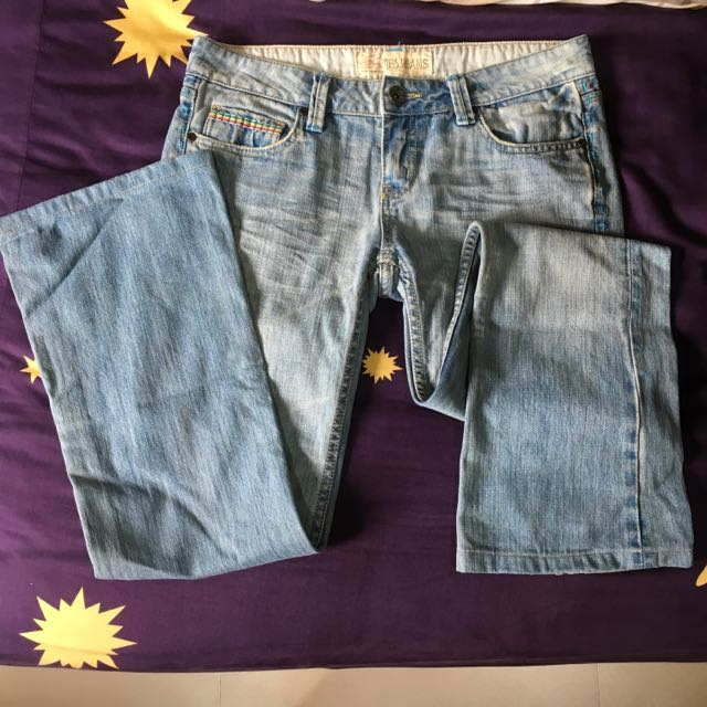 IBS低腰喇叭牛仔褲
