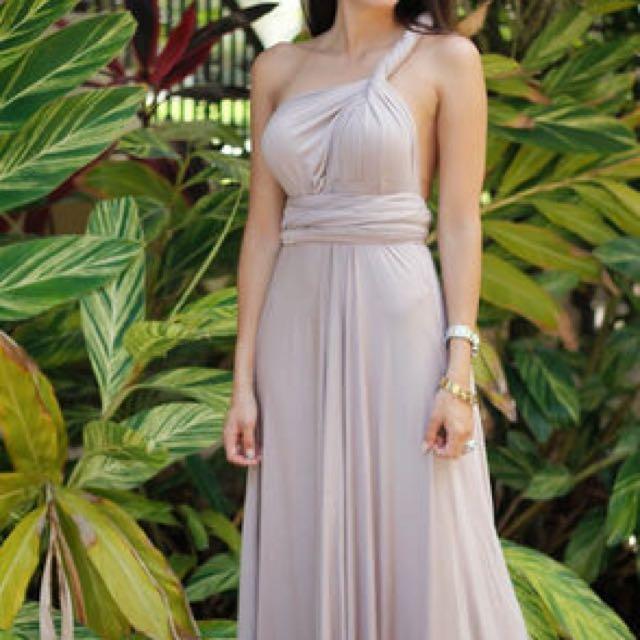 1a09d68d7fb LULU S Tricks of the Trade Taupe Maxi Dress