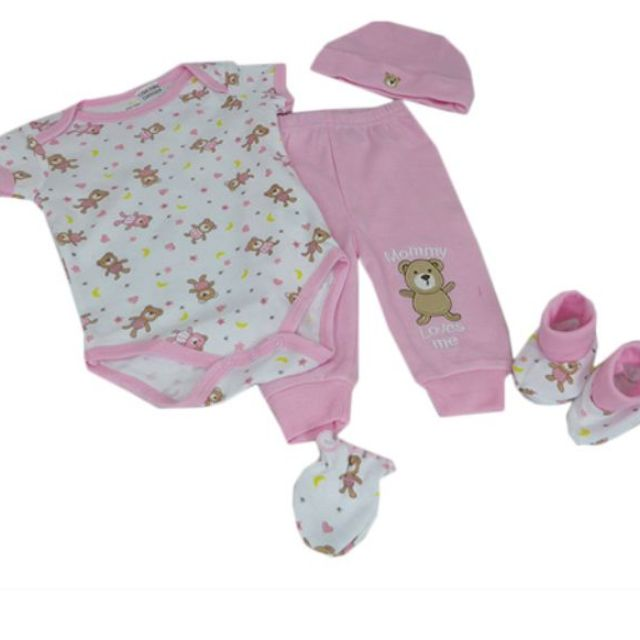 New 0-3 Months 5PCS Baby Girl from Mon Cheri Baby RRP: $42.95