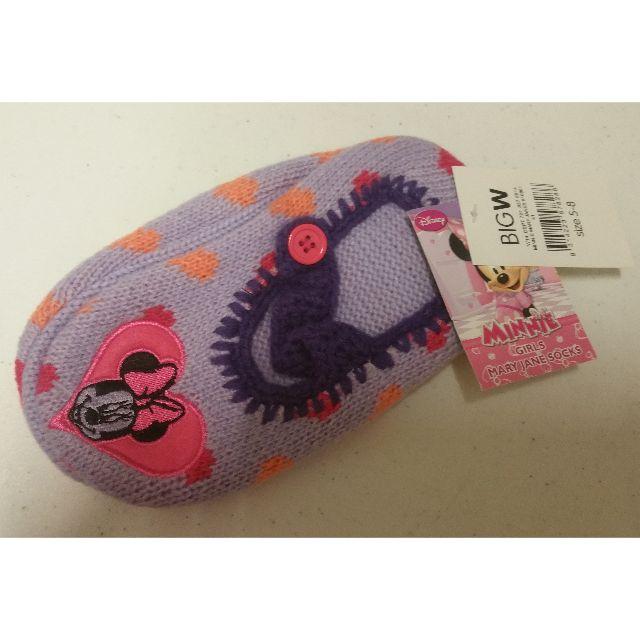 New Shoe 5-8 Age 3-5 years Disney Minnie Girls Mary Jane Socks