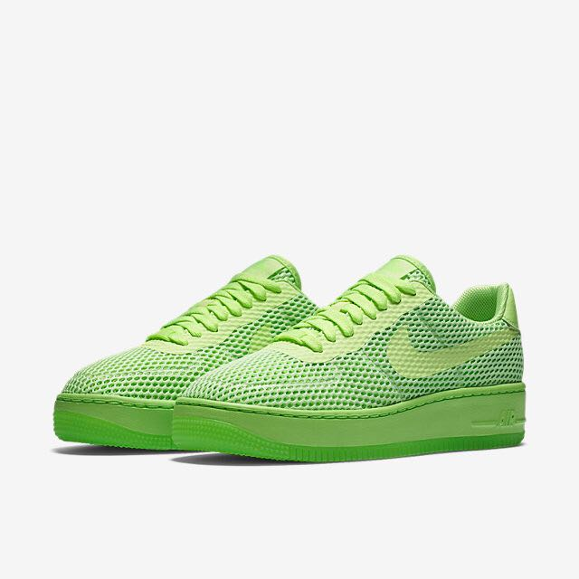 various colors ca2f9 3b2a2 Nike Air Force 1 Low Upstep BR (Women) - Ghost Green/Electric Green/Ghost  Green