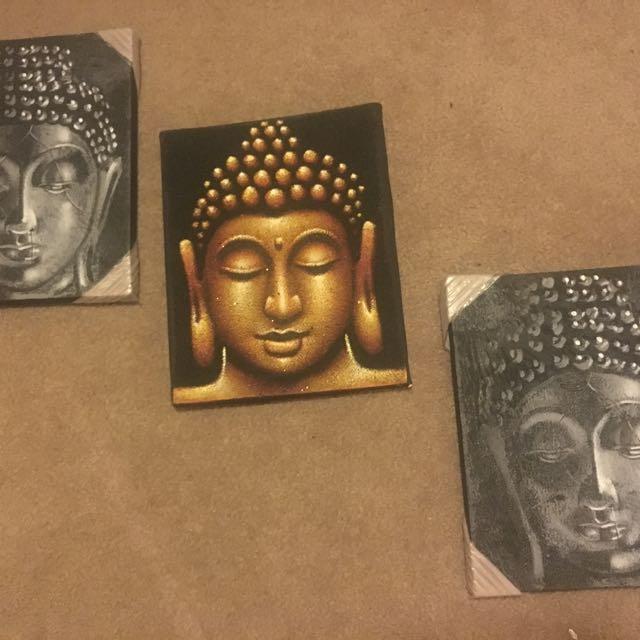 Oil Buddha Head Paintings