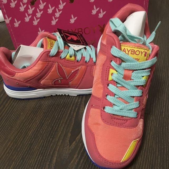 全新✨PlayBoy桃色慢跑鞋👟