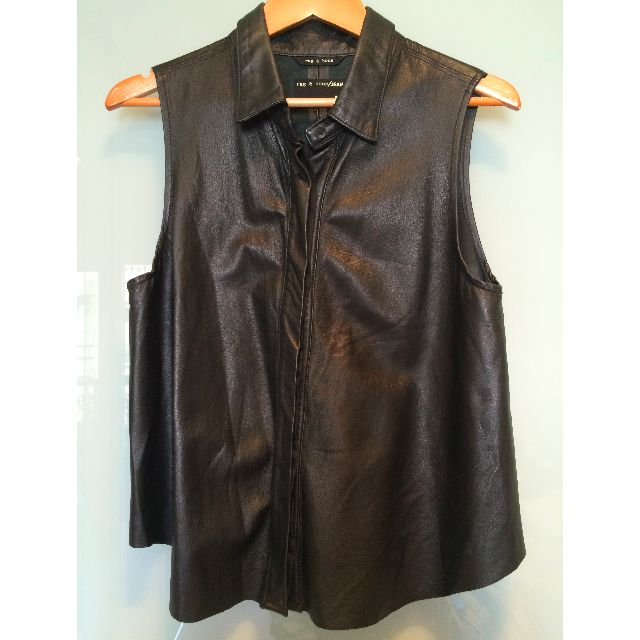 rag & bone - leather top