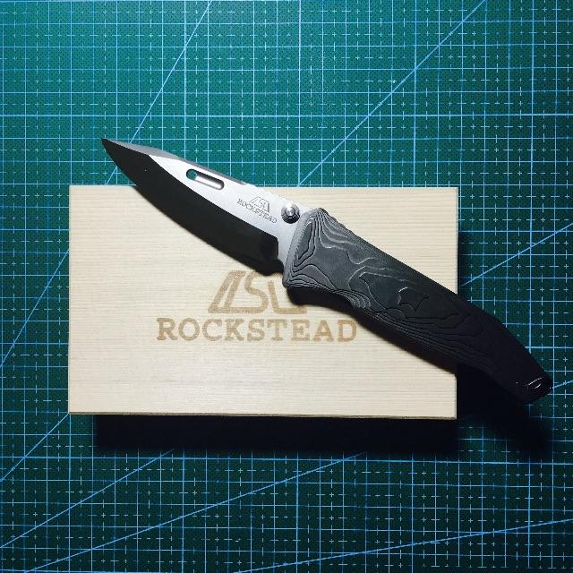 "Rockstead SAI-ZDP 才 Japanese Folding Knife 3.125"" Mirror Finish Blade, Black Titanium Handles - SAI-ZDP-BLK"