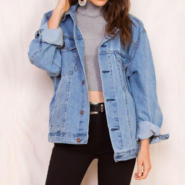 0a43382dadc8 Rumor Boyfriend Oversized Denim Jacket