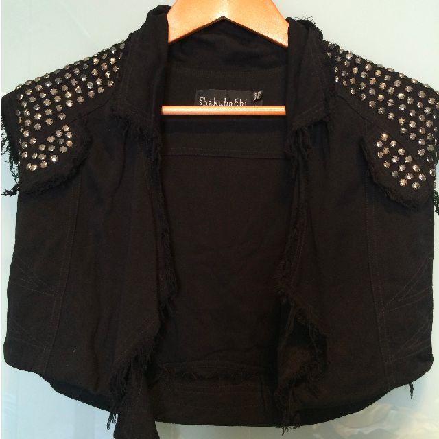 Shakuachi - studded black vest