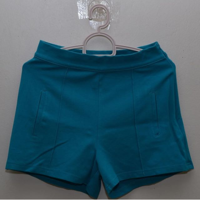 Teal Hight Waist Shorts