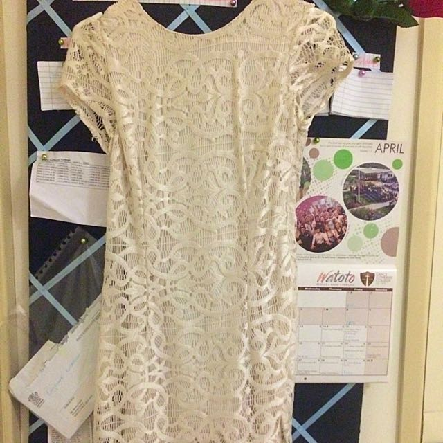 Tight White Lace Dress Size 8