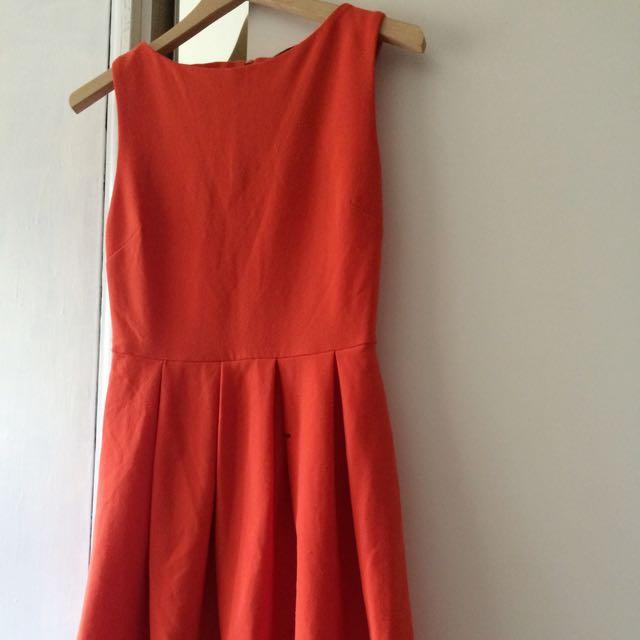 TOPSHOP ORANGE DRESS SIZE 10