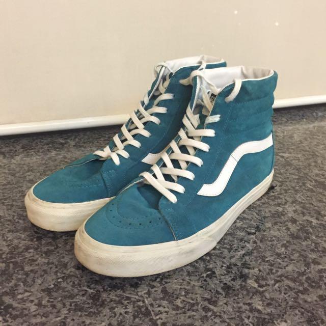 81a868a80634 Vans SK8 Hi Tiffany Blue US10