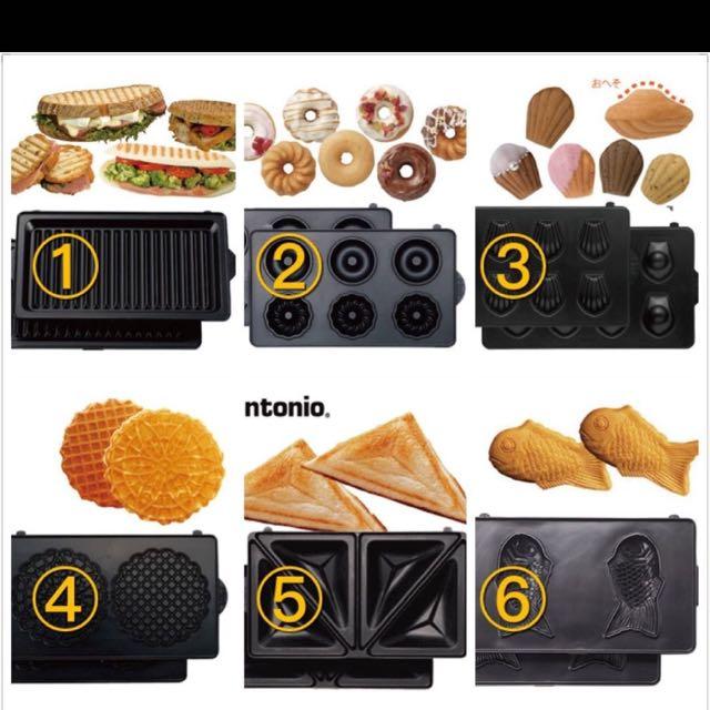 全新日本公司貨Vitantonio多款烤盤底盤 鯛魚燒機/鬆餅機/三明治機/vwh-110-w
