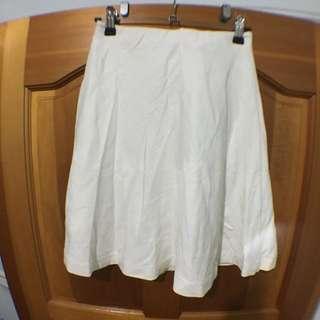 (全新)Uniqlo 羅馬布傘洋高腰裙