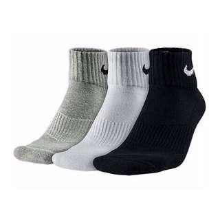 NIKE SX4703-901 素面LOGO短襪 黑/白/白 3雙 27-30 cm