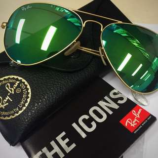 Ray-Ban Aviator Flash Lenses - Green