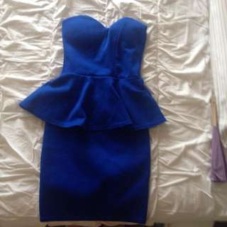 boohoo cobalt dress