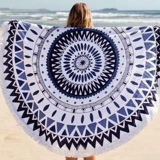 [預購] 度假沙灘 歐美 沙灘巾 野餐墊 流蘇 棉