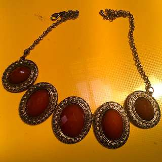 Gold Brown Necklace