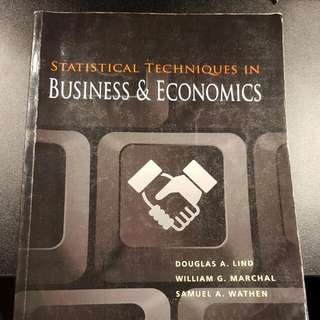 "Second Hand Textbooks ""Statistical Techniques In Business & Economics"" (Business Statistics)"