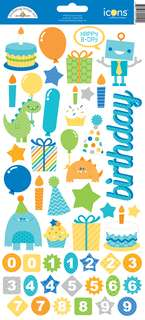 #1212 Hip Hip Hooray Cardstock Stickers