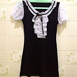 Black Dress Ruffle