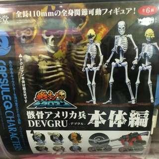 日本新版骷髏人扭蛋