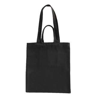 INSTOCK! Black Canvas Carry Tote Bag (with 2 handles)