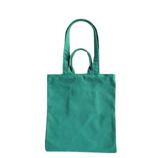 INSTOCK! Green Canvas Carry Tote Bag (with 2 handles)