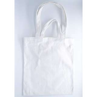 INSTOCK! White Canvas Carry Tote Bag (with 2 handles)