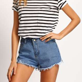 [INSTOCK] Fringe Denim Shorts