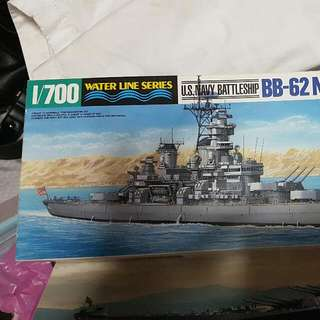 USS New Jersey 1/700 scale model from Tamiya