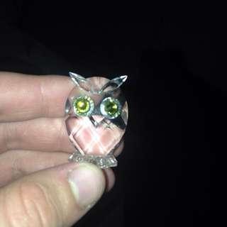 Swarovski Silver Crystal Owl