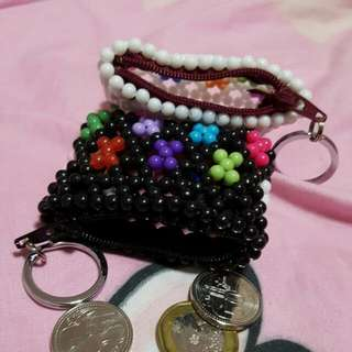 Hand Stitched Retro Coin Pouch