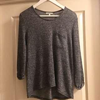 Dark Grey Thin Pullover Jumper