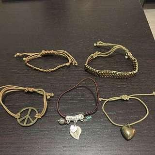 Set of 5 Multipack bracelets