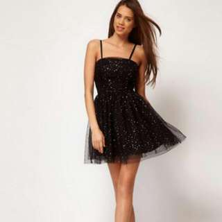 Black Sequined ASOS dress