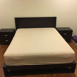 MK Home Bed With Make Up Table Set