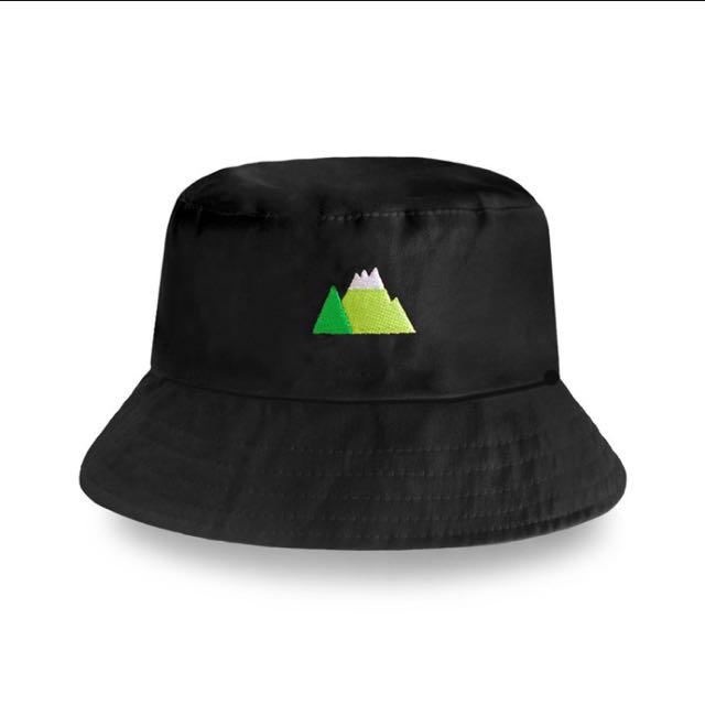 墨墨頭溫柔大山/天然冷氣漁夫帽(黑色)