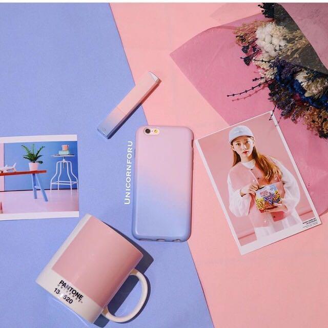 (全新)粉藍全包軟殼