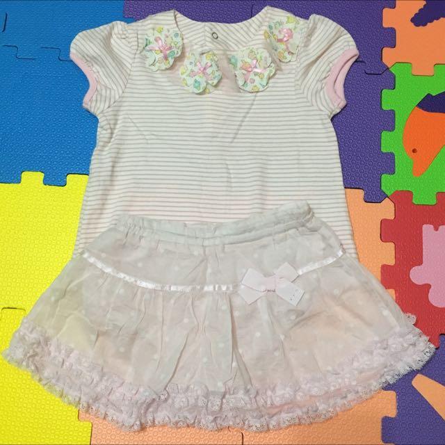 麗嬰房 上衣+褲裙