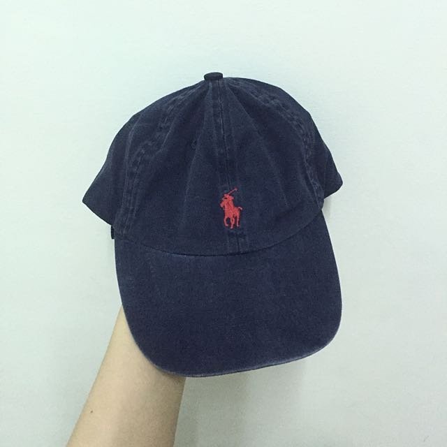 [二手]正品 POLO Ralph Lauren 深藍復古老帽