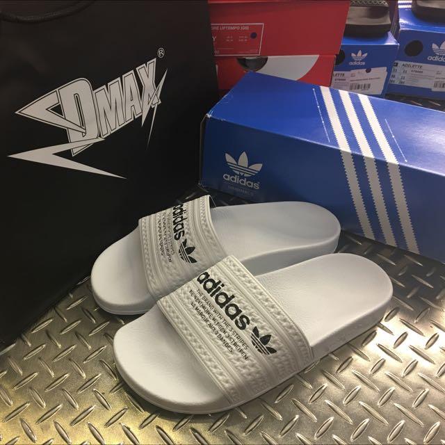 Adidas Adilette 黑 白字 拖鞋 男女款 保證正品 台中ㄧ中可面交