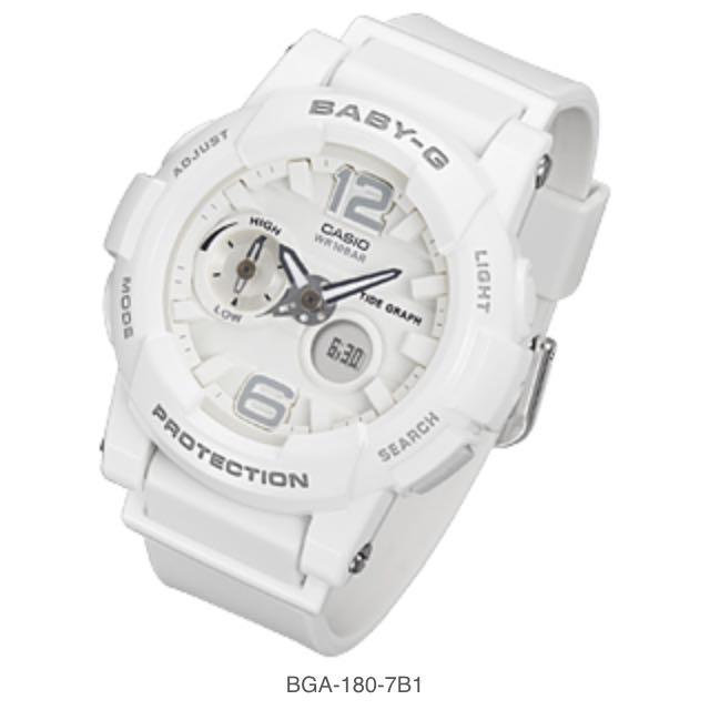 Baby-G 全白限量款手錶 #snsd #少女時代 #泰妍 #babyg #BGA-180-7B1
