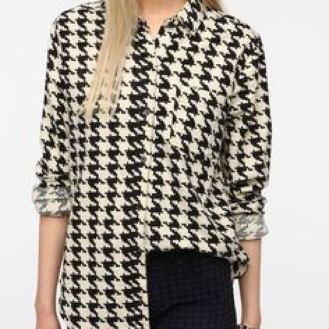 BDG Houndstooth Blouse